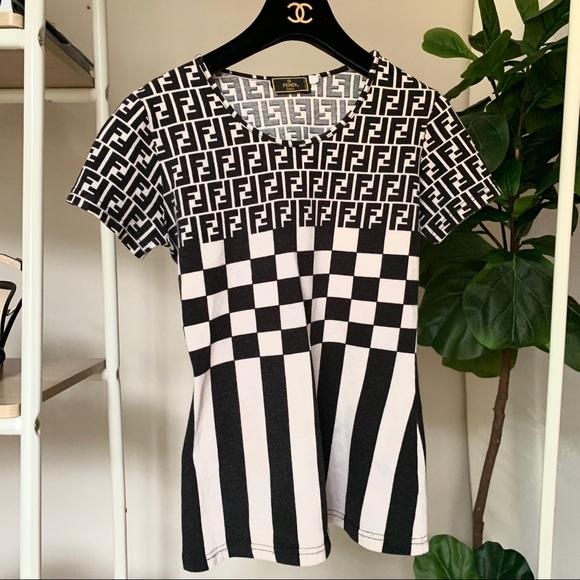 07adb6de3c7fb ⚡️SALE⚡️FENDI Vintage FF Monogram T Shirt